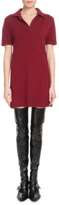 Chloé Iconic Cashmere Short-Sleeve Polo Dress