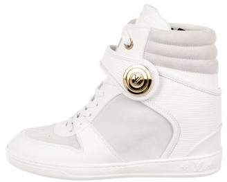 Louis Vuitton Leather Wedge Sneakers