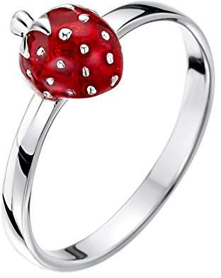 Jo for Girls Sterling Silver Strawberry Ring - Size J