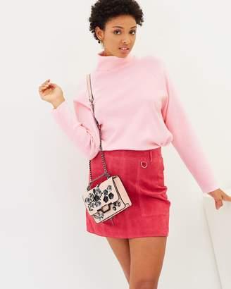 Vero Moda Bardot Short Suede Skirt