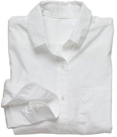 His white shirt