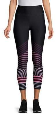 Calvin Klein Striped High-Waist Leggings