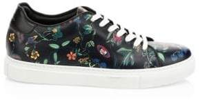 Paul Smith Floral Basso Leather Snakers