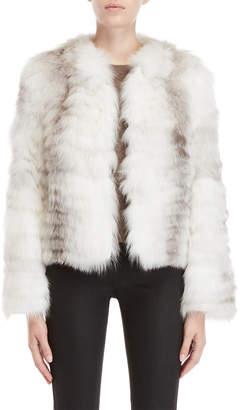 Equipment Love Token Real Fur Cropped Jacket