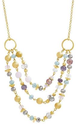 Catherine Malandrino Women Beaded Layered Chain Necklace