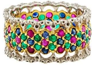 Buccellati 18K Ruby Emerald & Sapphire Band yellow 18K Ruby Emerald & Sapphire Band