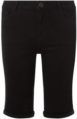 ee427d906256 at Dorothy Perkins · Dorothy Perkins Womens Black Denim Shaping Knee Shorts