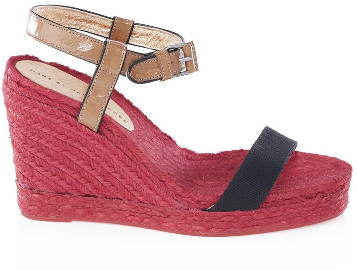 Marc by Marc Jacobs Canvas and Capretto Espadrille