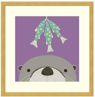 Amanti Art Peek-A-Boo Otter Framed Wall Art