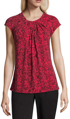 Liz Claiborne Twist Neck Top - Tall