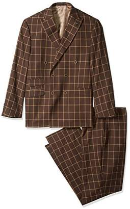 Stacy Adams Men's Sam Big and Tall Double Breasted Suit