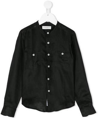 Paolo Pecora Kids collarless linen shirt