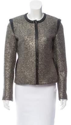 Laveer Leather-Trimmed Bouclé Jacket