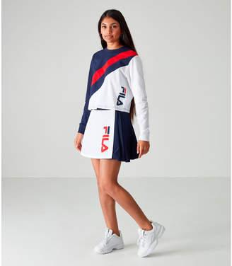 Fila Women's Akeya Long-Sleeve Crop T-Shirt