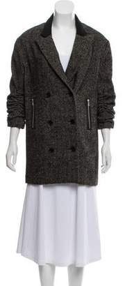 Alexander Wang Wool & Alpaca-Blend Peak-Label Jacket