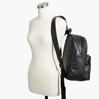 Nevereven logo print backpack in vegan leather
