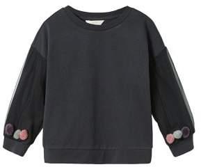 MANGO Pompons combined sweatshirt