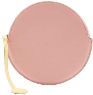 Roksanda Round pebbled-leather pouch