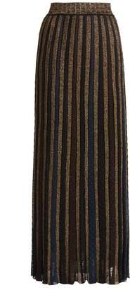 Missoni Metallic-striped knitted skirt