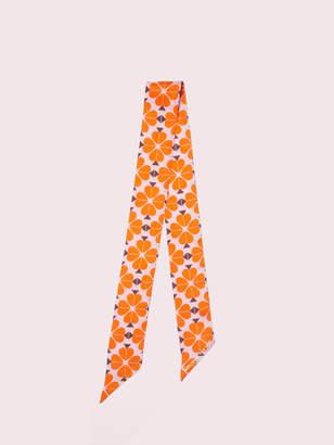 Kate Spade spade flower skinny scarf