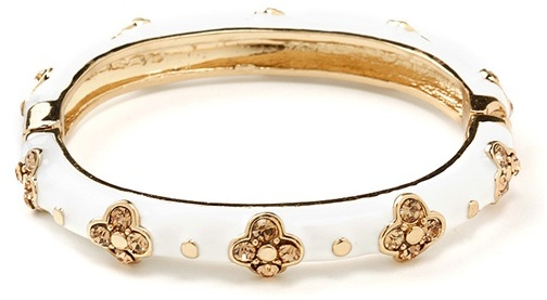 CCC Rhinestone Enamel Bangle