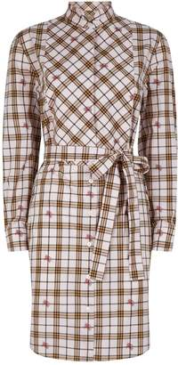 Burberry Cotton Check Shirt Dress