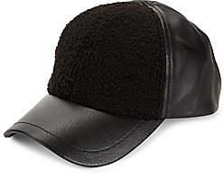 UGG Men's Faux Sherpa & Leather Baseball Cap