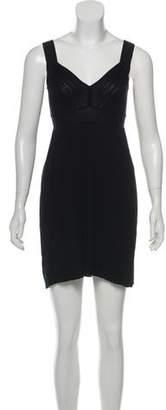 Magaschoni Pleated Mini Dress