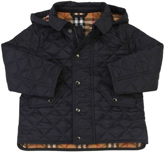 Burberry Quilted Nylon Coat W/ Hood
