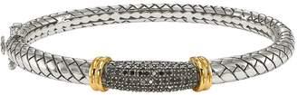 Black Diamond Affinity Diamond Jewelry Bangle, Sterling & 14K, 1/5 cttw,by Affinity