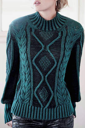 Indigenous Plated Cable Pullover