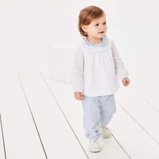 The White Company Daisy Print Top & Trouser Set