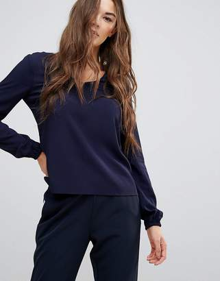 Vero Moda Long Sleeved Navy Blouse