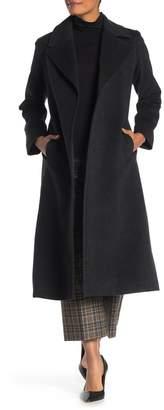 Fleurette Belted Long Wool Coat