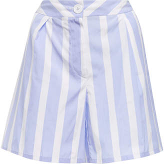 Thierry Colson Striped Cotton Shorts