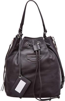 Balenciaga Papier Plate Leather Bucket Bag