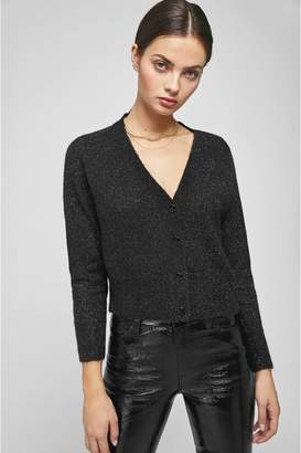 Anine Bing Mason Cardigan - Black With Silver