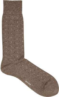 Reiss Almer Running Stitch Socks