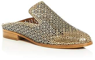 Robert Clergerie Women's Asier Perforated Patent Leather Mules