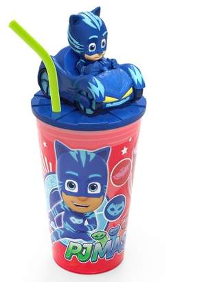 Zak Designs PJ Masks Catboy 15oz Plastic Cup With Lid And Straw Red/Blue