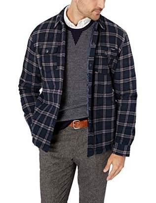 UNIONBAY Men's Long Sleeve Button-up Flannel Shirt Jacket