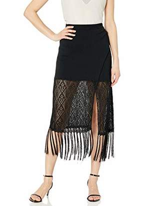 Ramy Brook Women's Crochet Codey MIDI Skirt