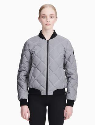 Calvin Klein reflective down quilted bomber jacket