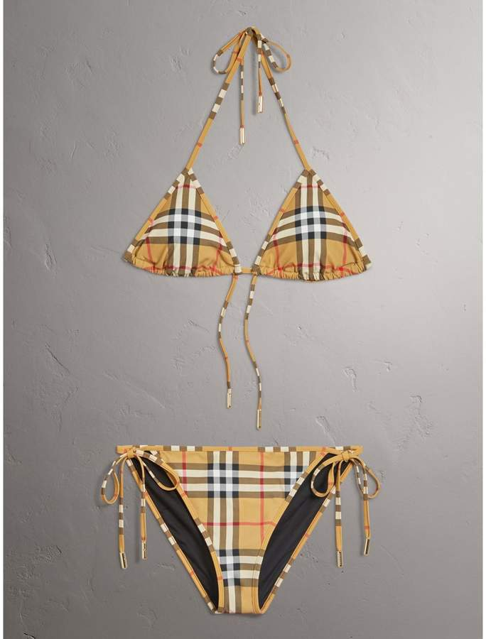 Burberry Vintage Check Triangle Bikini