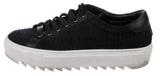 Salvatore Ferragamo Snakeskin Low-Top Sneakers