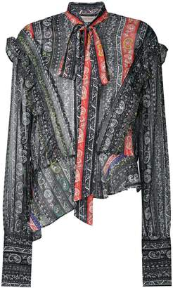Preen Line paisley pussybow blouse