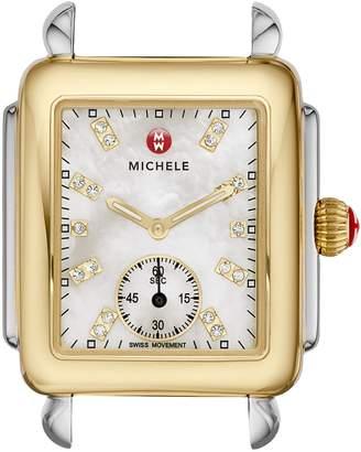 Michele Deco 16 Diamond Dial Two-Tone Watch Case, 29mm x 31mm
