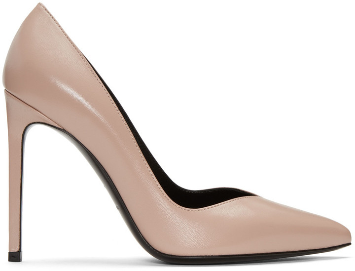 Saint Laurent Pink Paris Skinny Heels