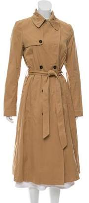 Billy Reid Suede-Trimmed Trench Coat
