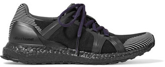 Adidas by Stella McCartney - Ultra Boost Stretch-knit Sneakers - Black $240 thestylecure.com